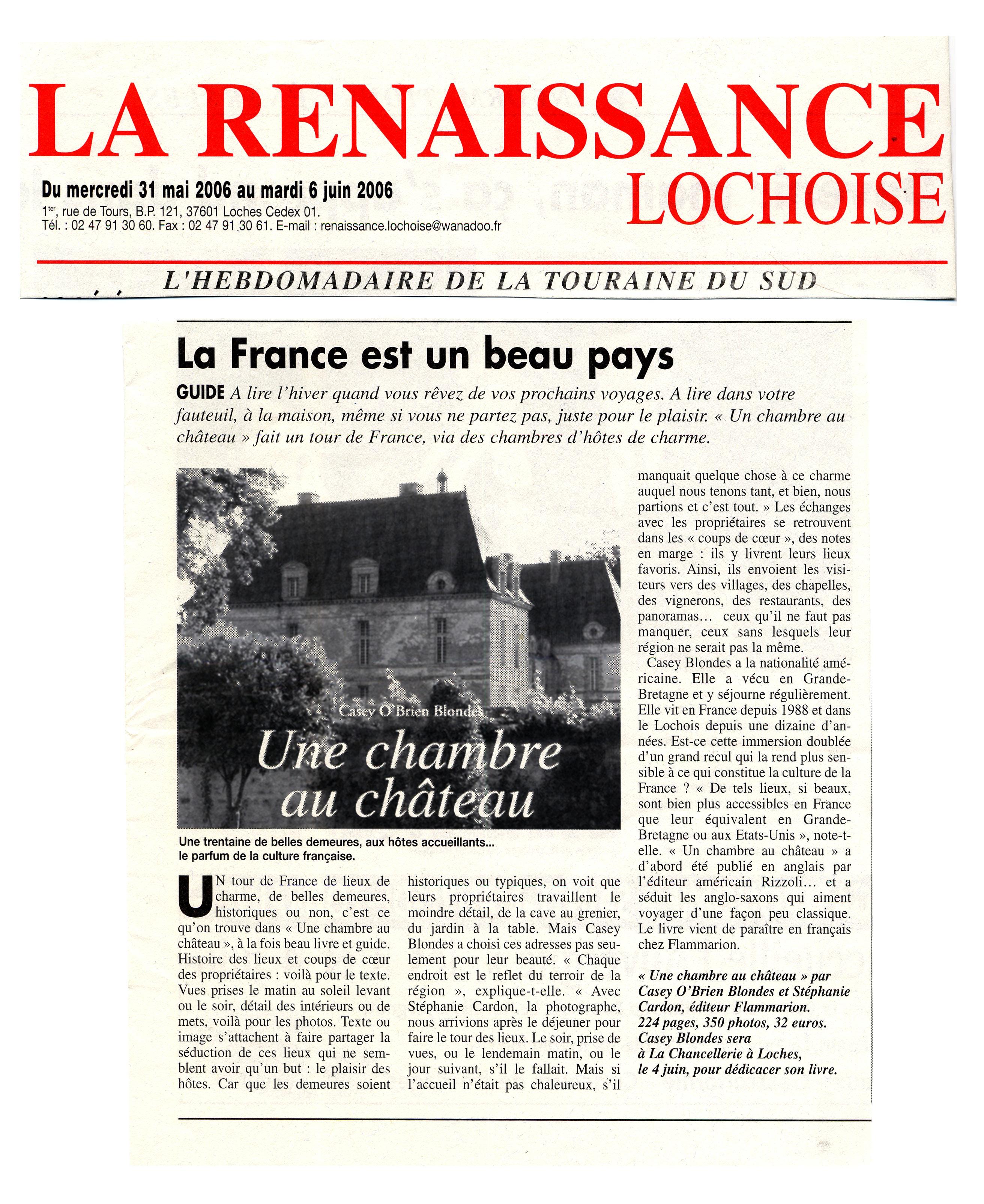 Casey o 39 brien blondes presse media for Renaissance lochoise